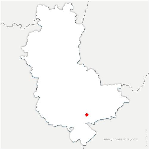 carte de localisation de Vernaison