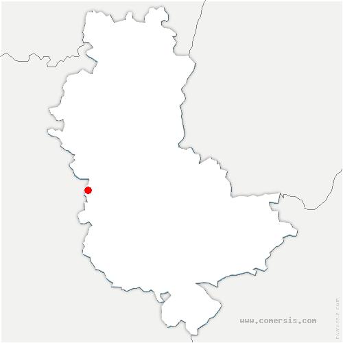 carte de localisation de Villechenève