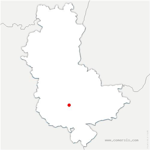 carte de localisation de Yzeron
