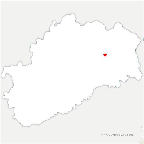 carte de localisation de Adelans-et-le-Val-de-Bithaine