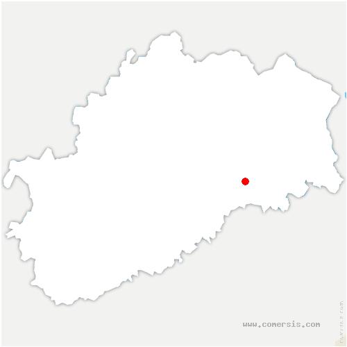carte de localisation de Aillevans
