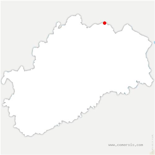 carte de localisation de Aillevillers-et-Lyaumont