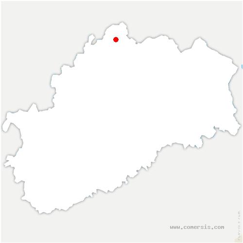 carte de localisation de Alaincourt