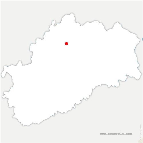carte de localisation de Amance