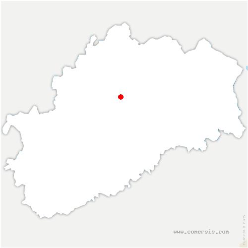 carte de localisation de Amoncourt