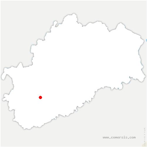 carte de localisation de Angirey
