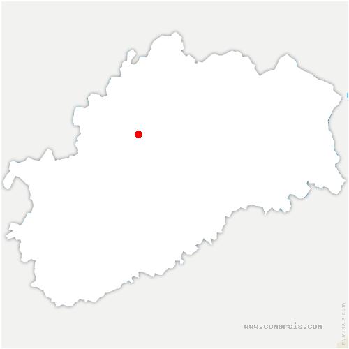 carte de localisation de Arbecey