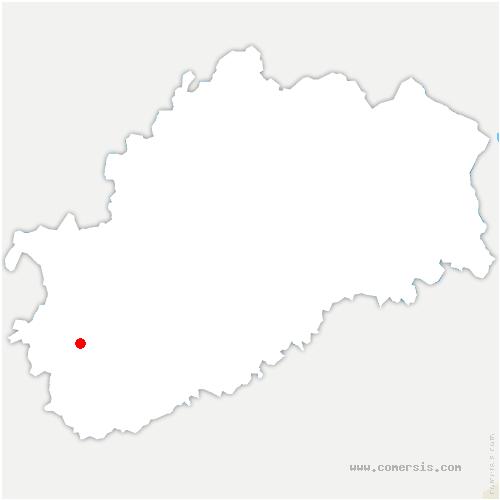 carte de localisation de Arc-lès-Gray