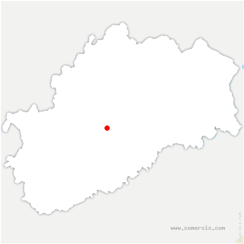 carte de localisation de Aroz