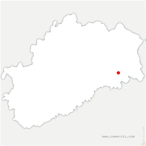 carte de localisation de Athesans-Étroitefontaine