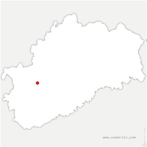 carte de localisation de Autet