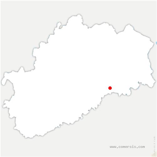 carte de localisation de Autrey-le-Vay