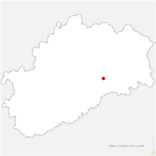 carte de localisation de Autrey-lès-Cerre