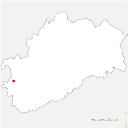 carte de localisation de Autrey-lès-Gray