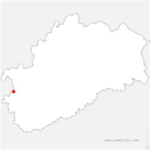 carte de localisation de Auvet-et-la-Chapelotte