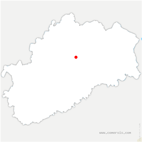 carte de localisation de Auxon