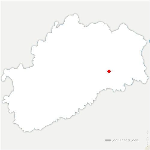 carte de localisation de Aynans