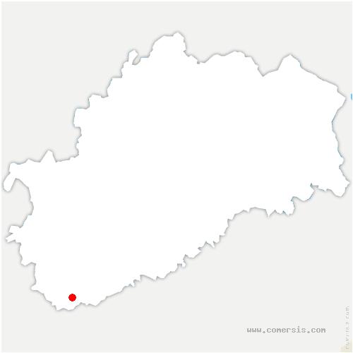 carte de localisation de Bard-lès-Pesmes