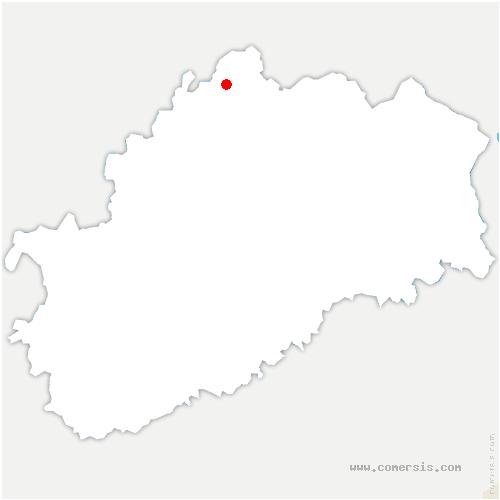 carte de localisation de Basse-Vaivre