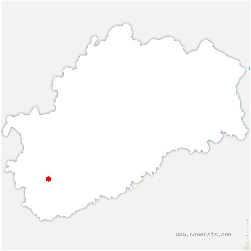 carte de localisation de Battrans
