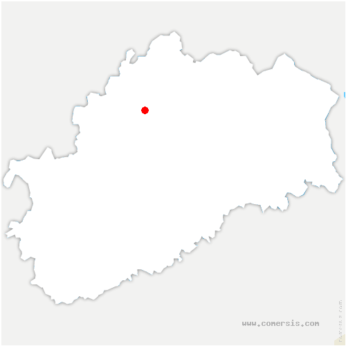 carte de localisation de Baulay