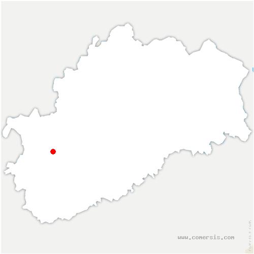 carte de localisation de Beaujeu-Saint-Vallier-Pierrejux-et-Quitteur