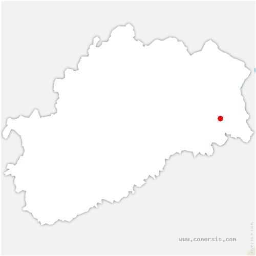 carte de localisation de Belverne