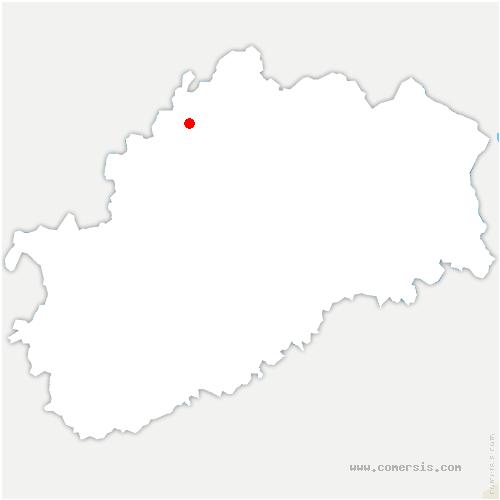 carte de localisation de Betaucourt