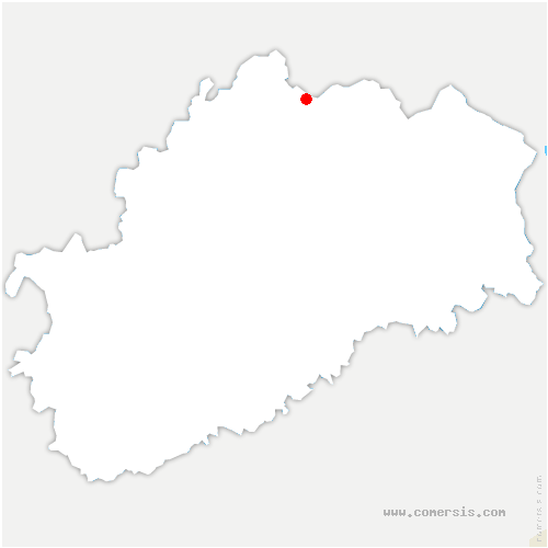 carte de localisation de Betoncourt-Saint-Pancras