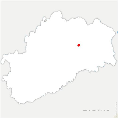 carte de localisation de Betoncourt-lès-Brotte