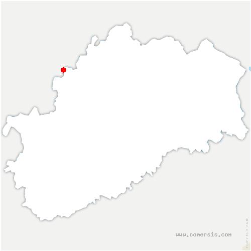 carte de localisation de Betoncourt-sur-Mance