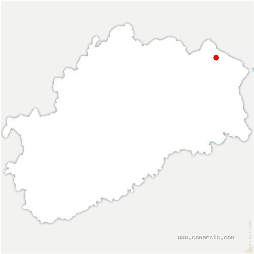 carte de localisation de Beulotte-Saint-Laurent