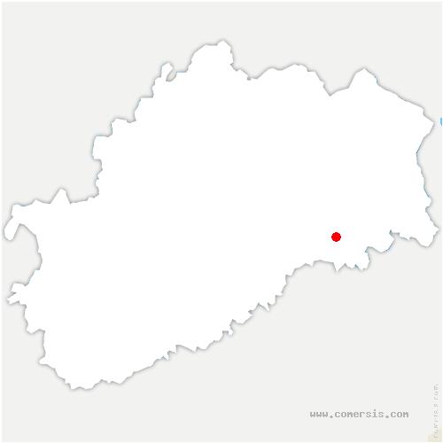 carte de localisation de Beveuge