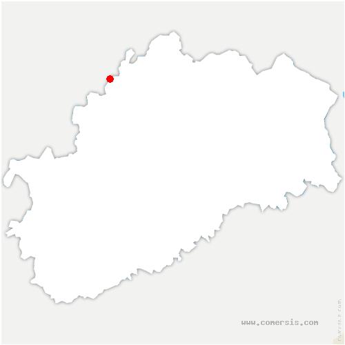 carte de localisation de Blondefontaine