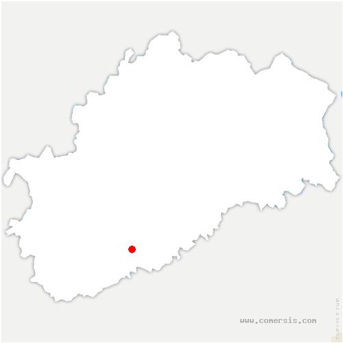 carte de localisation de Bonnevent-Velloreille