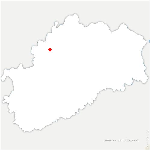 carte de localisation de Bougey