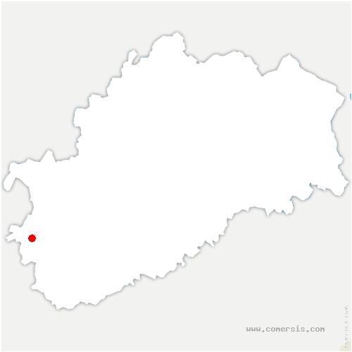 carte de localisation de Bouhans-et-Feurg