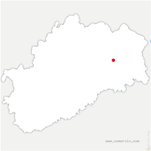 carte de localisation de Bouhans-lès-Lure