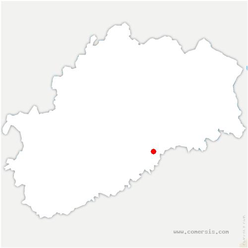 carte de localisation de Bouhans-lès-Montbozon