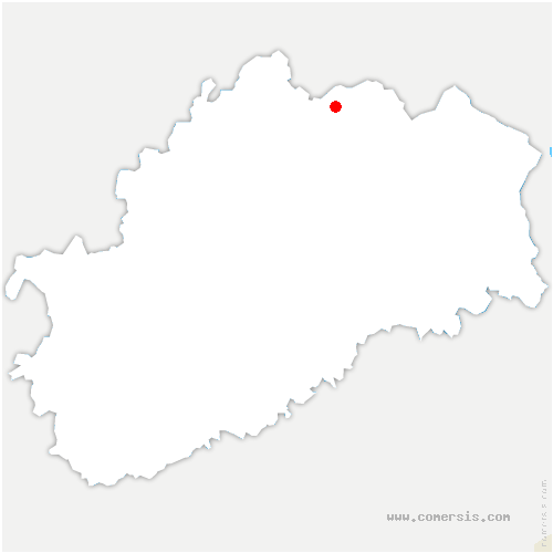 carte de localisation de Bouligney