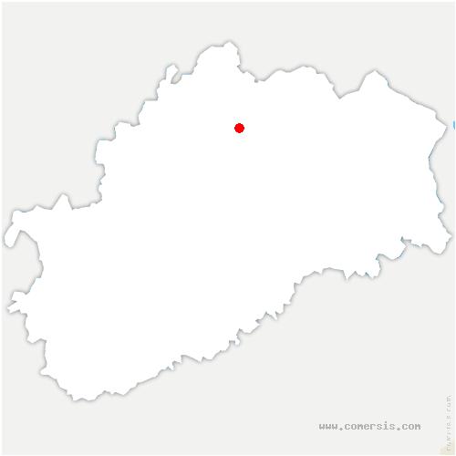 carte de localisation de Bourguignon-lès-Conflans