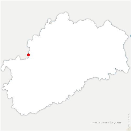 carte de localisation de Bourguignon-lès-Morey