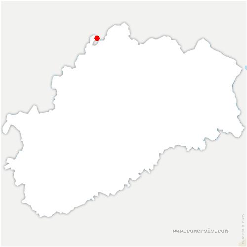 carte de localisation de Bousseraucourt