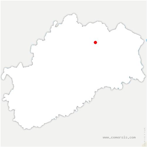 carte de localisation de Breuches