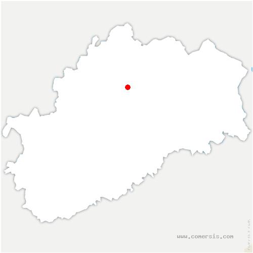 carte de localisation de Breurey-lès-Faverney