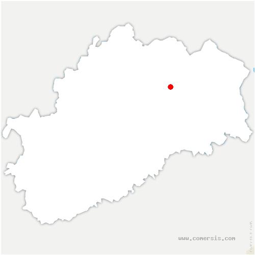 carte de localisation de Brotte-lès-Luxeuil