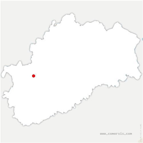 carte de localisation de Brotte-lès-Ray