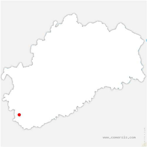 carte de localisation de Broye-Aubigney-Montseugny