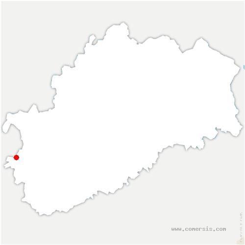 carte de localisation de Broye-les-Loups-et-Verfontaine