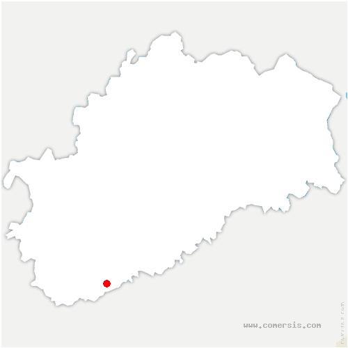 carte de localisation de Brussey